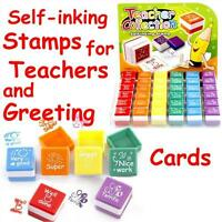 Set of 6 Teachers Stampers Self Inking Reward Stamps Motivation Parents Stickers