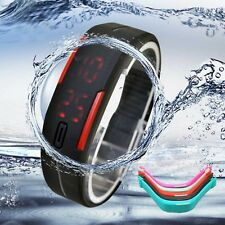 Vogue Ultra Thin Mens Girl Sports Silicone Watch Digital LED Bracelet Wristwatch