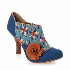 Ruby Shoo Reece Teal Ladies Party Shoe-Boots Various Sizes