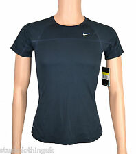Nike Womens Dri-Fit Training Top in Navy Blue