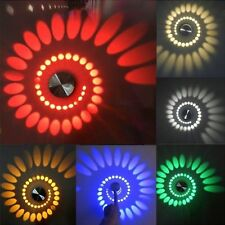 3W Spiral LED Lampada a Muro Wall Decorative Lamp For Pathway Party Hotel Club