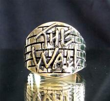BRONZE RING THE WALL TRIBUTE TO PINK FLOYD ANTIQUED ANY SIZE