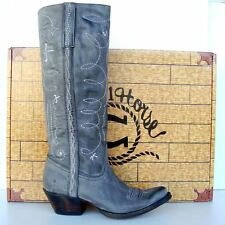 Lucchese Charlie 1 Horse Gray Mesquite Womens Ride Boot