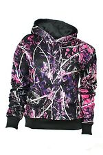 Muddy Girls Womens Black Camo Sweatshirt Hoodie Pink Purple Camo MGPOC 304100