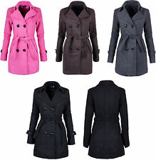 Ladies Double Breasted Coat Women Winter Coat With Inside Lining Size 12-18