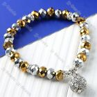 1P Crystal Rhinestone Beads Faceted Glass Beads Stretchy Bracelet Bangle