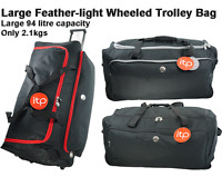Large Wheeled Holdall Travel Luggage Suitcase bag Super light only 2.1kgs! 94 L
