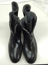 Men's Fleece Lined Zipper Rubber Galoshes Overshoe Boot  Size 13 USA Used