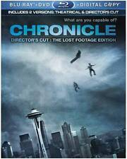 NEW/SEALED -Chronicle (Blu-ray/DVD, 2012, 2-Disc Set, The Lost Footage Edition;