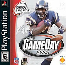 NFL GAMEDAY 2004 - Sony Playstation Game! PS1 PS2 PS3 Black Label Complete