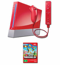 Nintendo Wii Red Console System 25th Anniversary Edition In Box W 2 Games WOW!!!