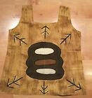 West African Mudcloth Dashiki Sleeveless TankTop Vest Trees  Mud Cloth textile