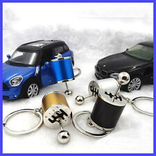 1pc Metal Gear Stick Knob Keyring Keychain Key Ring Keyfob Good For Gift