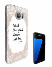 259 Floral Christian Quote Case Gel Cover For Samsung Galaxy S7 Galaxy S7 Edge