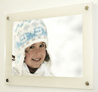 """WHITE FROST GLOSS ACRYLIC PHOTO PICTURE 10MM  FRAME FOR A 12X8"""" or A4 PHOTO"""