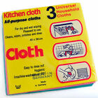 3pcs Dish Cloth Kitchen Towel Tea Glass Wash Car/Home Household MADE IN GERMANY