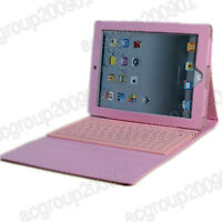 Wireless Bluetooth Keyboard + Leather Case Cover For iPad 2 The New iPad 3rd