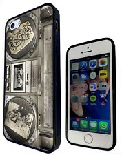 54 Dj Music Boombox Cover Rubber Case For iphone SE 4 5 5C 6 6S /6S Plus