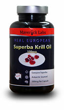 PURE 100% Superba Krill Oil Capsules - Antarctic Sourced - Strong Product!