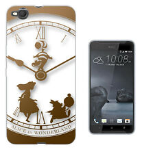 459 Alice Wonderland Clock Case Cover For HTC 10 M8 M9 A9 X9 DESIRE 530 610 825