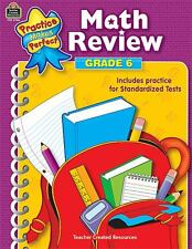 NEW Math Review Grade 6 by Mary Rosenberg Paperback Book (English) Free Shipping