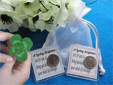 A JUST FOR YOU LUCKY SIXPENCE GIFT BAG PRESENT FOR GOOD LUCK & FORTUNE NEW