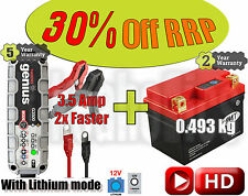 Lithium Deal - Battery + 3.5A charger - Yamaha TZR 50  - 2012
