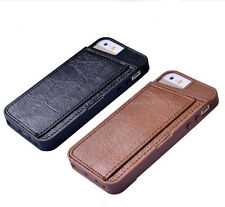 Iphone 5 5S Case Cover Shockproof TPU Leather Credit Card Holder Wallet Apple