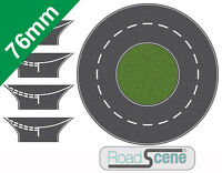 76mm Road 250dia Roundabout to suit 00 Gauge Hornby etc. Self Adhesive Vinyl