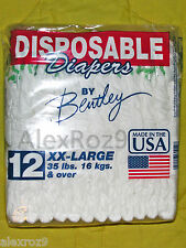 12 Ct Vintage Disposable Baby Diapers Size XX-Large: Compare Size to Pampers 7