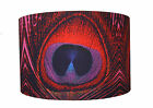 """Extra Large Red Peacock Feather Print Lampshade 16"""""""