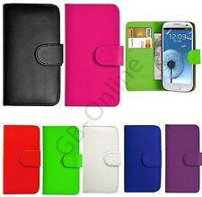 100% New Leather Flip Book Wallet Case Cover For Samsung Galaxy+Free Screen Film