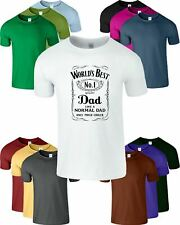 WORLD's BEST DAD Father's Day DADY Mens T-Shirt Birthday Present Funny Tee
