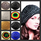 GIRL'S LADY'S WOMEN BERET KNITTED CROCHET BAGGY BEANIE HAT CAP FASHION GIFT