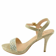 Blossom Robin 143 Nude Women's Embellished Single Band Sandals