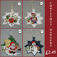 New Embroidered Christmas Hanging Decorations  Hangers Tree Window