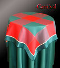 New Red Green Christmas Tablecloth Topper Cloth X70