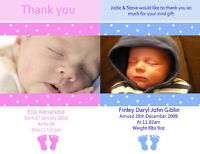 New Baby Boy or Girl Birth Announcement Thank You Cards