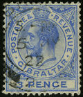 Gibraltar 1921-32 Scott #81a USED
