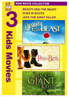 Beauty and the Beast/Puss in Boots/Jack the Giant Killer (DVD, 2010, 2-Disc Set)
