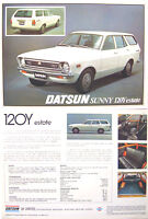 Datsun Nissan 120Y Sunny Estate 1977-78 UK Brochure