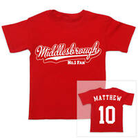 MIDDLESBROUGH Football Personalised Boys/Girls T-Shirt