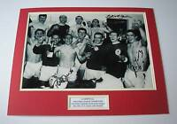 RON YEATS TOMMY SMITH CHRIS LAWLER Signed LIVERPOOL Photo Mount + COA Proof