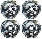 """NEW 15x10"""" ALLIED RACING WHEEL SET,CHROME,5 X 5"""",3""""BS,CHEVY,BUICK,GM,OLDS,GMC"""