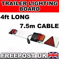 NEW 4ft Trailer Lighting Board Towing Lights 7.5m cable