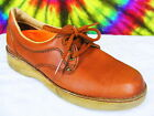 6 M ladies vtg 80s brown leather lace-up oxfords shoes