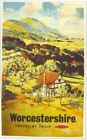 1960's Worcestershire British Rail A3 Poster Reprint