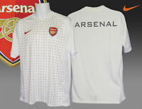 New NIKE ARSENAL FOOTBALL Training Pre Match Shirt Emirates White Dots M