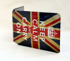 Keep Calm And Carry On With U. Jack Oyster Card Holder
