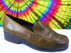 size 7.5 B ladies brown leather COLE HAAN loafers shoes